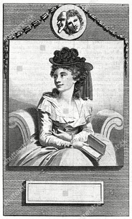 Hannah Cowley Writer Author of the School For Grey Beards Etc Holding A Book 1743 - 1809