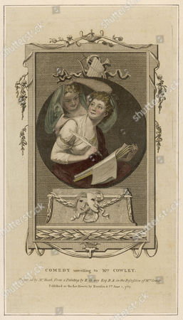Hannah Cowley Writer Receiving Inspiration From the Spirit of Comedy 1743 - 1809