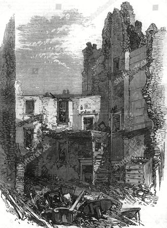 Damaged Houses and Buildings in Corporation Lane East London Caused by the Explosion at Clerkenwell Prison Which Was an Attempt to Free Two Fenian Prisoners Burke and Casey 1867
