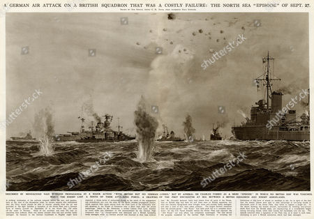 A German Air Attack On A British Squadron in the North Sea 150 Miles Off the Coast of Norway in the Early Stages of the Second World War German Propaganda Claimed There Had Been British Losses But Admiral Sir Charles Forbes Described It As an 'Episode' During Which No British Ship Was Touched 27-Sep-39