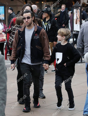 Editorial image of Pete Wentz and family out and about, Los Angeles, USA - 23 Dec 2016