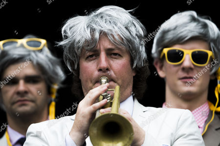 Stock Picture of A member of the richies a Richie Benaud tribute group plays the trumpet during day 2 of the 2nd test between Australia Vs Pakistan