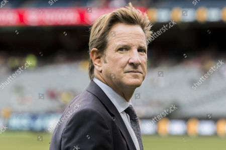 Cricket commentator Mark Nicholas returns after being his hospital with stomach problems during day 3 of the 2nd test between Australia Vs Pakistan