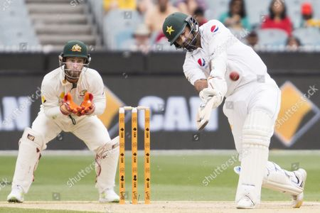 Sohail Khan batting hits a 6 during day 3 of the 2nd test between Australia Vs Pakistan