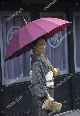 Editorial image of Japanese kimono fashion, Fukuyama, Japan - 23 Dec 2016