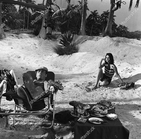 'Danger Man' - Episode 34 - 'The Man on the Beach' - Patrick McGoohan and Barbara Steele