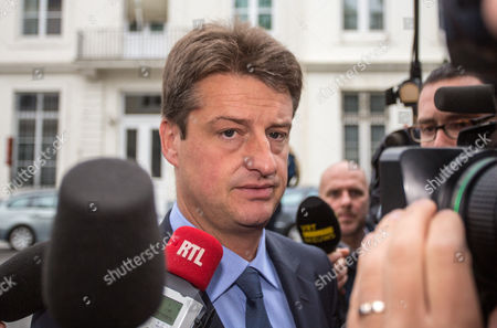 Budget Minister and Minister of Administrative Simplification Olivier Chastel Arrives For a Budgetary Control Ministers Meeting at the Prime Minister's Residence in Brussels Belgium 17 July 2012 Report States That Belgian Government is Searching For More Stability For 2015 Belgium Brussels