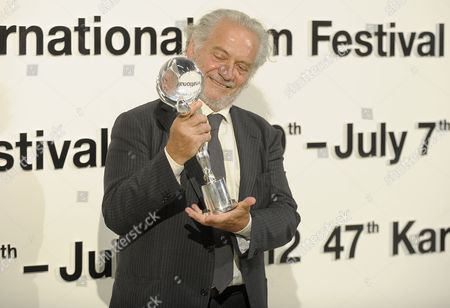 Italian Actor Giorgio Colangeli Poses After Receiving the Crystal Globe Prize For the Movie 'The Italian Conspiracy' at the 47th Karlovy Vary International Film Festival in Karlovy Vary Czech Republic 07 July 2012 Czech Republic Karlovy Vary