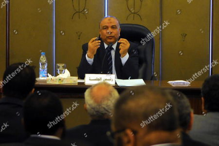 People's Assembly Speaker and Leading Muslim Brotherhood Member Saad Al-katatni Speaks During the First Meeting of Egypt's Constituent Assembly in Cairo Egypt 28 March 2012 Media Reports Said Al-katatni was Elected Head of the Assembly During the First Session the Formation of the 100-member Panel Assigned with Drafting New Constitution Sparked Anger Among Several Liberal Egyptian Politicians who Rejected the Islamist Domination of the Assembly Egypt Cairo