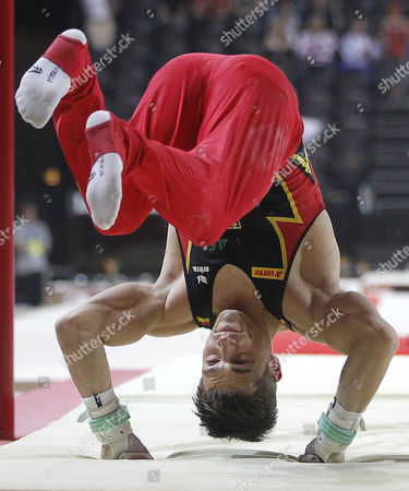 German Philipp Boy Falls As He Competes on the Horizontal Bar at the Seniors Apparatus Finals of the Men Artistic Gymnastics European Championships in Montpellier France 27 May 2012 France Montpellier
