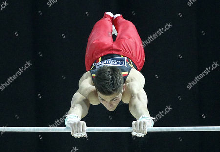 German Philipp Boy Competes on the Horizontal Bar During the Seniors Apparatus Qualification of the Men Artistic Gymnastics European Championships in Montpellier France 24 May 2012 France Montpellier