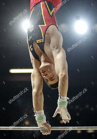 German Philipp Boy Competes on the Horizontal Bar at the Seniors Apparatus Finals of the Men Artistic Gymnastics European Championships in Montpellier France 27 May 2012 France Montpellier