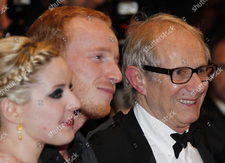 (l-r) Actress Siobhan Reilly Actor William Ruane and British Director Ken Loach Arrive For the Screening of 'The Angel's Share' During the 65th Cannes Film Festival in Cannes France 22 May 2012 the Movie is Presented in the Official Competition of the Festival Which Runs From 16 to 27 May France Cannes