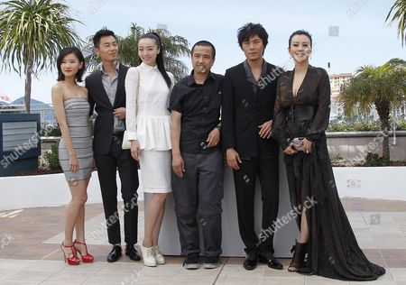 (l-r) Chinese Actors Chang Fangyuan Zhu Yawen Qi Xi Chinese Director Ye Lou Qin Hao and Hao Lei Pose During the Photocall For 'Mystery' at the 65th Cannes Film Festival in Cannes France 17 May 2012 the Movie is Presented in the 'Un Certain Regard' Selection of the Festival Which Runs From 16 to 27 May France Cannes