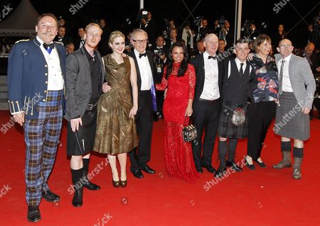 (l-r) Actor Charlie Maclean Actor William Ruane Actress Siobhan Reilly British Director Ken Loach Actress Jasmin Riggins Scottish Screenwriter Paul Laverty Scottish Actor Paul Brannigan British Producer Rebecca O'brien and Actor Gary Maitland Arrive For the Screening of 'The Angel's Share' During the 65th Cannes Film Festival in Cannes France 22 May 2012 the Movie is Presented in the Official Competition of the Festival Which Runs From 16 to 27 May France Cannes