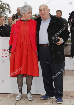 French Director and Photographer Raymond Depardon (r) and French Director Claudine Nougaret (l) Pose During the Photocall For 'Journal De France' at the 65th Cannes Film Festival in Cannes France 22 May 2012 the Movie is Presented in the 'Special Screenings' Section of the Festival Which Runs From 16 to 27 May France Cannes