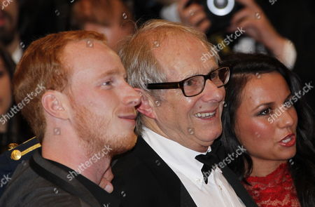 (l-r) Actor William Ruane British Director Ken Loach and Actress Jasmin Riggins Arrive For the Screening of 'The Angel's Share' During the 65th Cannes Film Festival in Cannes France 22 May 2012 the Movie is Presented in the Official Competition of the Festival Which Runs From 16 to 27 May France Cannes