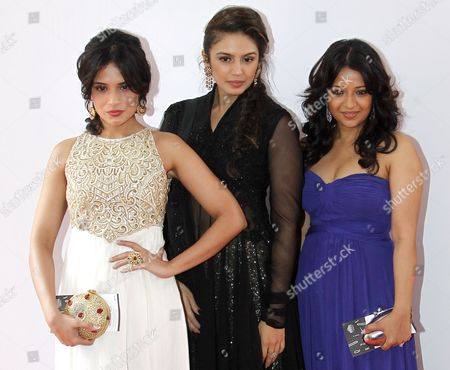 Stock Image of (l-r) Indian Actresses Richa Chadda Huma Quereshi and Reema Sen Pose During a Photocall For 'Gangs of Wasseypur' During the 65th Cannes Film Festival in Cannes France 22 May 2012 the Festival Runs From 16 to 27 May France Cannes