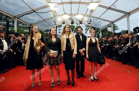 Aurelie Fillippetti French Culture Minister (c) and Guests Arrive For the Screening of 'Amour' (love) During the 65th Cannes Film Festival in Cannes France 20 May 2012 the Movie is Presented in the Official Competition of the Festival Which Runs From 16 to 27 May France Cannes