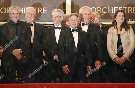 French-polish Director Roman Polanski (c) Arrives with French Director Claude Lelouch (l) Canadian Director David Cronenberg (3-l) Belgian Director Jean-pierre Dardenne (3-r) Belgian Director Luc Dardenne and Aurelie Fillippetti (2-r) French Culture Minister (r) For the Screening of 'Amour' (love) During the 65th Cannes Film Festival in Cannes France 20 May 2012 the Movie is Presented in the Official Competition of the Festival Which Runs From 16 to 27 May France Cannes
