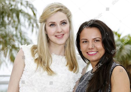 Stock Image of Actresses Siobhan Reilly (l) and Jasmin Riggins (r) Pose During the Photocall For 'The Angel's Share' at the 65th Cannes Film Festival in Cannes France 22 May 2012 the Movie is Presented in the Official Competition of the Festival Which Runs From 16 to 27 May France Cannes