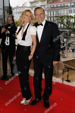 Russian Director Andrei Konchalovsky (r) and His Wife Yuliya Vysotskaya (l) Arrive For the Presentation of the Documentary 'A Special Day' During the 65th Cannes Film Festival in Cannes France 20 May 2012 the Festival Which Runs From 16 to 27 May Turns 65 This Year France Cannes