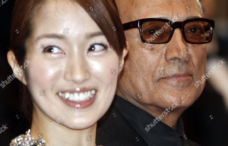 Japanese Actress Rin Takanashi (l) and Iranian Director Abbas Kiarostami (r) Arrive For the Screening of 'Like Someone in Love' During the 65th Cannes Film Festival in Cannes France 21 May 2012 the Movie is Presented in the Official Competition of the Festival Which Runs From 16 to 27 May France Cannes