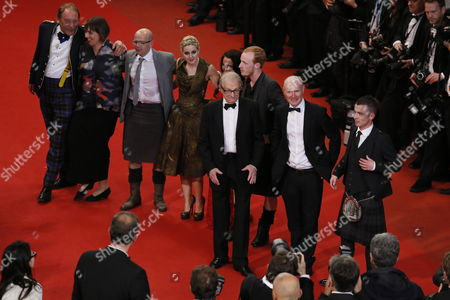 Stock Picture of (l-r) Actor Charlie Maclean British Producer Rebecca O'brien Actor Gary Maitland Actress Siobhan Reilly Actress Jasmin Riggins Actor William Ruane British Director Ken Loach Scottish Screenwriter Paul Laverty and Scottish Actor Paul Brannigan Arrive For the Screening of 'The Angel's Share' During the 65th Cannes Film Festival in Cannes France 22 May 2012 the Movie is Presented in the Official Competition of the Festival Which Runs From 16 to 27 May France Cannes