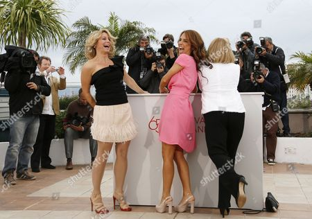 (l-r) Actresses Anne Louise Hassing Alexandra Rapaport and Susse Wold Pose During the Photocall For 'Jagten' (the Hunt) at the 65th Cannes Film Festival in Cannes France 20 May 2012 the Movie is Presented in the Official Competition of the Festival Which Runs From 16 to 27 May France Cannes