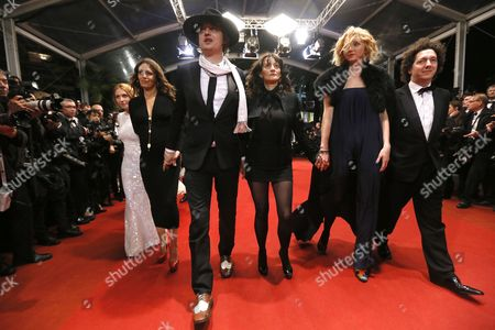 French Actress Karole Rocher (2-l) British Singer Pete Doherty (3-l) French Director Sylvie Verheyde (3-r) British Model and Actress Lily Cole (2-r) and French Actor Guillaume Gallienne (r) Arrive For the Screening of 'Jagten' (the Hunt) During the 65th Cannes Film Festival in Cannes France 20 May 2012 the Movie is Presented in the Official Competition of the Festival Which Runs From 16 to 27 May France Cannes