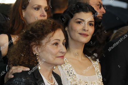 French Actress Catherine Arditi and French Actress Audrey Tautou Arrive For the Screening of 'Therese Desqueyroux' and the Closing Award Ceremony of the 65th Cannes Film Festival in Cannes France 27 May 2012 the Screening of the Movie Presented out of Competition Closes the Festival France Cannes