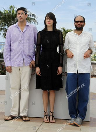 (l-r) Mexican Actor Adolfo Jimenez Castro Actress Nathalia Acevedo and Mexican Director Carlos Reygadas Pose During the Photocall For 'Post Tenebras Lux' at the 65th Cannes Film Festival in Cannes France 24 May 2012 the Movie is Presented in the Official Competition of the Festival Which Runs From 16 to 27 May France Cannes