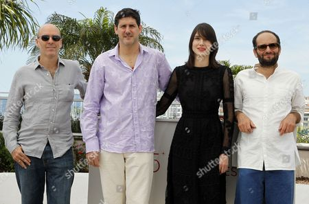 (l-r) Mexican Producer Jaime Romandia Mexican Actor Adolfo Jimenez Castro Actress Nathalia Acevedo and Mexican Director Carlos Reygadas Pose During the Photocall For 'Post Tenebras Lux' at the 65th Cannes Film Festival in Cannes France 24 May 2012 the Movie is Presented in the Official Competition of the Festival Which Runs From 16 to 27 May France Cannes