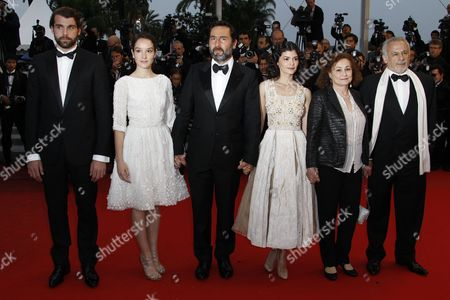 (l-r) French Actor Stanley Weber French Actress Anais Demoustier French Actor Gilles Lellouche French Actress Audrey Tautou French Actress Catherine Arditi and French Actor Francis Perrin Arrive For the Screening of 'Therese Desqueyroux' and the Closing Award Ceremony of the 65th Cannes Film Festival in Cannes France 27 May 2012 the Screening of the Movie Presented out of Competition Closes the Festival France Cannes