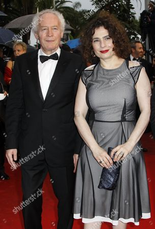 Cinefondation Jury President Belgian Director Jean-pierre Dardenne (l) Arrives with Jury Member Armenian-canadian Actress Arsinee Khanjian (r) For the Screening of 'Therese Desqueyroux' and the Closing Award Ceremony of the 65th Cannes Film Festival in Cannes France 27 May 2012 the Screening of the Movie Presented out of Competition Closes the Festival France Cannes