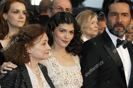 (l-r) French Actress Catherine Arditi French Actress Audrey Tautou and French Actor Gilles Lellouche Arrive For the Screening of 'Therese Desqueyroux' and the Closing Award Ceremony of the 65th Cannes Film Festival in Cannes France 27 May 2012 the Screening of the Movie Presented out of Competition Closes the Festival France Cannes