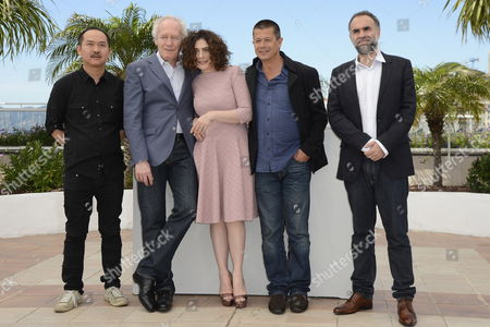 Jury President Belgian Director Jean-pierre Dardenne (2-l) Poses with Jury Members (l-r) Hong Kong Director Yu Lik-wai Armenian-canadian Actress Arsinee Khanjian French Director Emmanuel Carrere and Brazilian Director Karim Ainouz During the Photocall of the Cinefondation Jury at the 65th Cannes Film Festival in Cannes France 23 May 2012 the Festival Runs From 16 to 27 May France Cannes
