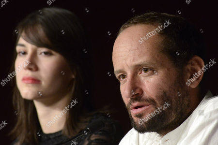 Actress Nathalia Acevedo (l) and Mexican Director Carlos Reygadas (r) Attend the Press Conference For 'Post Tenebras Lux' During the 65th Cannes Film Festival in Cannes France 24 May 2012 the Movie is Presented in the Official Competition of the Festival Which Runs From 16 to 27 May France Cannes