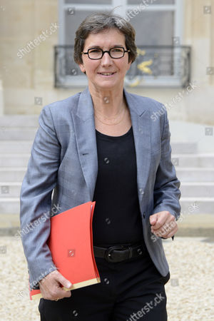 French Sports and Youth Minister Valerie Fourneyron Leaves the Weekly Cabinet Meeting at the Elysee Palace in Paris France 27 June 2012 France Paris