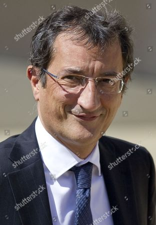 French Junior Minister in Charge of Cities Francois Lamy Leaves the Weekly Cabinet Meeting at the Elysee Palace in Paris France 22 June 2012 the French Government Underwent a Minor Adjustment on 21 June with the Cabinet Now Totallling 38 Members Four More Than the Previous One the New Cabinet Features 19 Men and 19 Women As Well As the Prime Minister France Paris