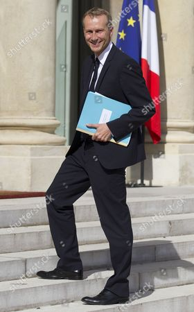 Newly-named French Junior Minister For Agribusiness Guillaume Garot Arrives For the Weekly Cabinet Meeting at the Elysee Palace in Paris France 22 June 2012 the French Government Underwent a Minor Adjustment on 21 June with the Cabinet Now Totallling 38 Members Four More Than the Previous One the New Cabinet Features 19 Men and 19 Women As Well As the Prime Minister France Paris