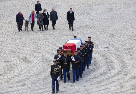 Editorial picture of France Resistance Hero Aubrac Funeral - Apr 2012