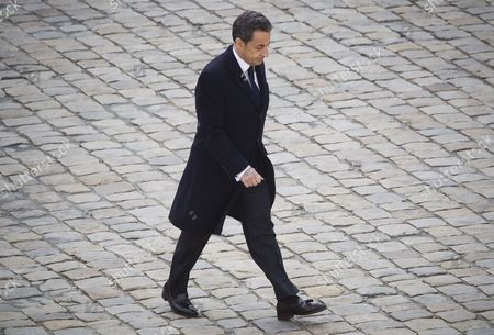 French President Nicolas Sarkozy Attends a Funeral Ceremony Honoring World War Ii French Resistance Leader Raymond Aubrac at the Invalides Monument Paris France 16 April 2012 Aubrac a Major Leader in the French Resistance is Famed For a Daring Escape After Being Captured by the Nazis During World War Ii Alongside French Resistance Hero Jean Moulin Aubrac Died at the Age of 97 in Paris 10 April 2012 France Paris