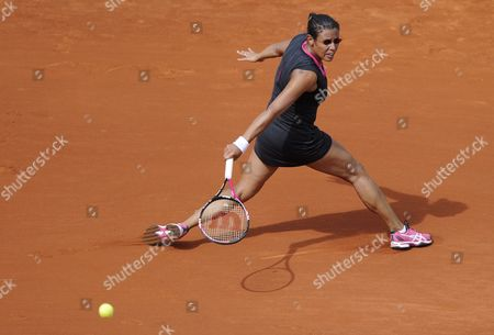 Stephanie Foretz Gacon of France Returns to Na Li of China During His Second Round Match For the French Open Tennis Tournament at Roland Garros in Paris France 31 May 2012 France Paris