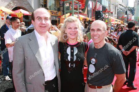 Stock Photo of Philippe P. Dauman, Debbie Dauman and Jeffrey Katzenberg