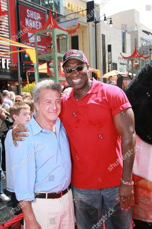 Dustin Hoffman and Michael Clark Duncan
