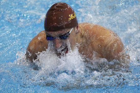 Maxim Podoprigora of Austria Competes in the Men's 50m Breaststroke Heats During the Len European Swimming Championships in Debrecen Hungary 25 May 2012 Hungary Debrecen