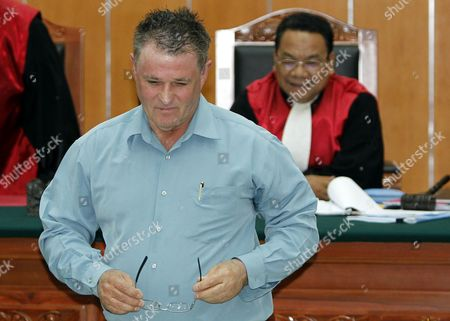 Stock Picture of Australian Bali Bombing Victim Peter Hughes Walks to His Seat As He Delivers His Testimony During Indonesian Terror Suspect Umar Patek's Trial in Jakarta Indonesia 05 April 2012 Umar Patek is Accused of Mixing Explosive Materials Used in the 2002 Bali Nightclub Attacks That Killed 202 People Patek Faces Six Counts Including Premeditated Murder Bomb-making and Illegal Firearms Possession and Could Face the Death Penalty if Found Guilty Indonesia Jakarta