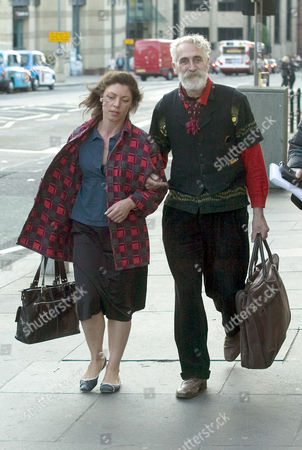 John Byrne and Jeanine Davies after leaving the Traverse theatre