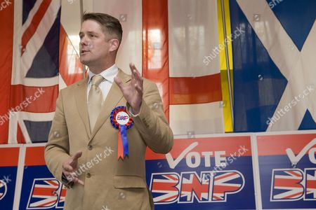 Richard Barnbrook BNP London Mayoral Candidate and Leader of the Opposition on Barking and Dagenham Borough Council, launch of the British National Party campaign for Greater London Authority election